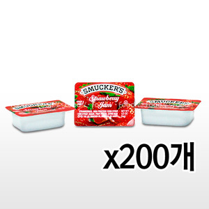 SMUCKERS 딸기잼 1박스(14g x 200개)